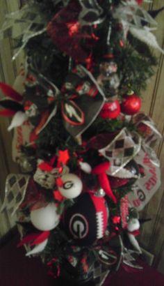 Georgia Bulldogs Christmas tree
