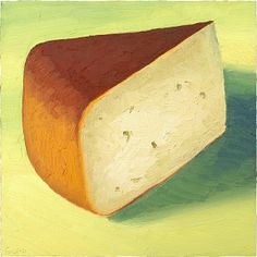 """""""Smoke Signal"""" is actually a beautiful smoked gouda style cheese with a sunset colored smokey rind.  Made in PA! Calkin Creamery calls it their """"cheese with a cause"""". Profits from Smoke Signal's sales, go to support the Michale J Bryant Foundation, awarding grants to handicapped children in Wayne County each Spring. So basically, buying and eating this delicious cheese is good for your karma too! sold - print available at…"""