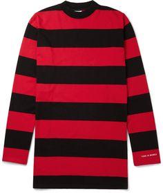 Vetements Oversized Striped Cotton-Jersey T-Shirt