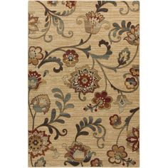 Shop Wayfair for Surya Arabesque Taupe Floral Area Rug - Great Deals on all Decor products with the best selection to choose from!