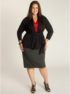 Phoebe Plus Size Cardigan in Black - Separates by IGIGI