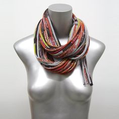 Cow Statement Necklace Infinity Scarf Winter Chunky by Necklush