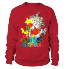 Things that make you go AWW! Like puppies, bunnies, babies, and so on. Christmas Is Coming, Christmas Cats, Xmas, Cat Tags, Family Tees, Christmas Fashion, Funny Cat Pictures, I Am Happy, Cool T Shirts