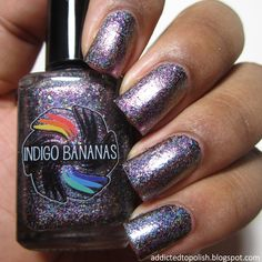 Indigo Bananas Galactic Halo (Holo)   Addicted to Polish