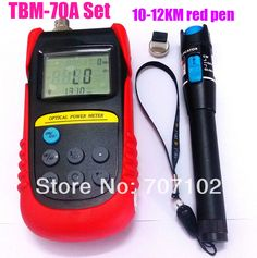 TBM-70A Fiber Optic Power Meter Tester optical  power  meter light power meter+10-12km Red Pen Laser Fiber Optic Cable Tester