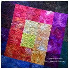 Geraldine Wilkins-Living Water Quilter - Free form feathers
