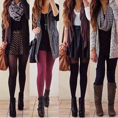 cute outfits....especially the one on the right.