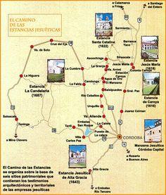 Estancias jesuiticas de Córdoba. Argentina. Las Estancias Jesuíticas fueron antiguos establecimientos agropecuarios diseñados y administrados por los Padres de dicha orden, ubicados en la actual provincia de Córdoba, Argentina.