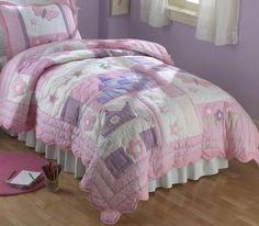 Amazon.com : Pem America Princess Twin Quilt with Pillow Sham : Childrens Electronics : Bedding & Bath