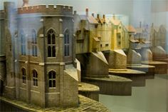London Bridge: a model of the medieval bridge is displayed at the Museum of London, Docklands near Canary Wharf