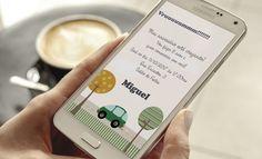 Convite Digital tema Carrinho   Texto Livre  -