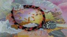 Braaaains Charmed Braided Suede Bracelet by KingdomoftheGeek