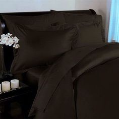 300tc Hotel Egyptian Cotton Blown Solid Duvet Comforter Cover and Shams Set with Sheets Full/Queen Size