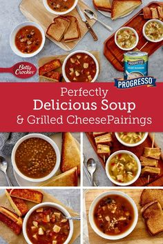 We've gone beyond the basic tomato-and-American-cheese combo and matched our favorite soups with a variety of cheeses that make it easy to eat grilled cheese and soup anytime! Creamy Mushrooms, Stuffed Mushrooms, Healthy Foods, Healthy Recipes, Cheese Pairings, American Cheese, Bowl Of Soup, Betty Crocker, Soups And Stews
