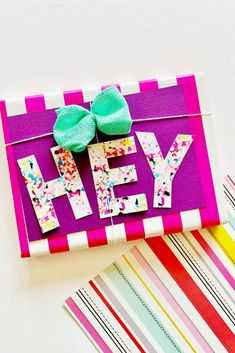 Free printable confetti letters for cards, gifts, banners and so much more! Diy And Crafts Sewing, Diy Crafts For Kids, Crafts To Sell, E Tattoo, Diy Crafts Videos, Craft Tutorials, Craft Wedding, Easter Crafts, Holiday Crafts