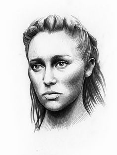 gail-shark:  Lexa.  30 minute sketch.   Click here for more Lexa fanart by this artist.