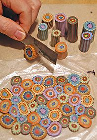 Cynthia Tinapple. polymer clay penny_quilt_canes