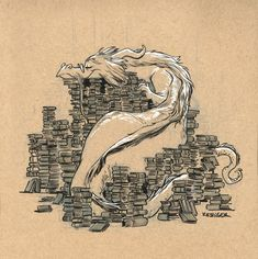 Telkyn The Learned - This book wyrm loves to hoard her literary treasures.