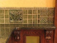 Decorative Tiles For Kitchen Unique Backsplash Set Of 6 Brown Patinated Copper Tiles  Kitchen Tiles Inspiration