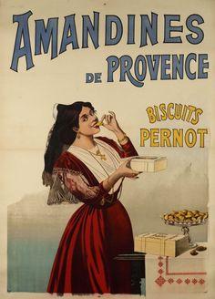 Amandines de Provence, biscuits Pernot - Galerie 123 - Original Vintage Posters