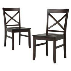 Threshold Carey Dining Chair - Dark Tobacco - Set of 2