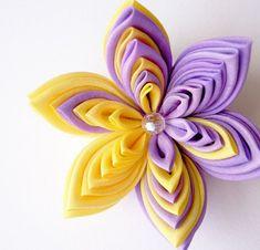 Цветы канзаши из ткани и атласных лент мастер класс
