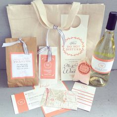 Wedding Guest Welcome Bag with Printed by Tie
