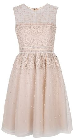 Blush Applique Dress