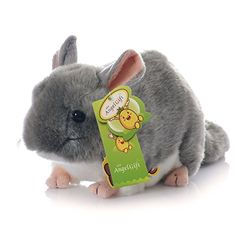Cuddly Big Soft Toys Emulation Gray Chinchilla Doll 12 Soft Baby Stuffed Animal Toy Valentines Day Birthday Xmas Christmas Wedding Anniversary Presents Gifts -- Find out more about the great product at the image link.