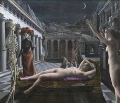 Paul Delvaux - Sleeping Venus (Tate Modern)