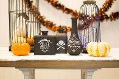 Our newly-arrived variety of chalkboard vases are just what the witch doctor ordered for your Halloween Party potion bar! Find them here: http://www.lightsforalloccasions.com/nsearch.aspx?keywords=chalkboard%20vases #halloweenparty #halloweendecor #whatsyourpoison
