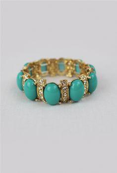 Oval Bracelet in Vert