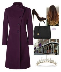 """""""Picking up her new tiara from Bentley & Skinner after her appointment with Asprey"""" by fashion-royalty ❤ liked on Polyvore featuring Gucci, Kaliko and Yves Saint Laurent"""