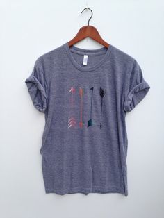Arrow  Adult Tee by greythread on Etsy, $23.00
