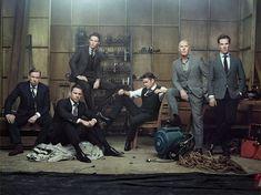 Общее фото всех претендентов на Оскар за мужскую роль первого плана для Hollywood Reporter.  Слева направо: Тимоти Сполл, Чаннинг Татум, Эдди Рэдмейн, Итан Хоук, Майкл Китон и Бенедикт Камбербэтч