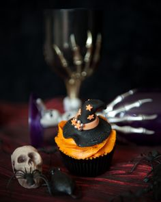 Magical Witch Hat Halloween Cupcake