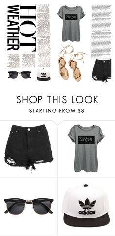 """Hot Weather"" by alexandramaticiuc-1 on Polyvore featuring Loeffler Randall and adidas"