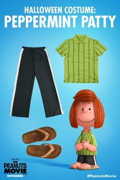 Peppermint Patty from Peanuts Halloween costume Charlie Brown Costume, Charlie Brown Halloween, Great Pumpkin Charlie Brown, Peanuts Halloween, Peanuts Christmas, Charlie Brown Christmas, Christmas Costumes, Diy Halloween Costumes, Costume Ideas