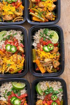 No matter how busy life gets, we still have to eat. With simplemake aheadideas like these Fajita Meal Prep Bowls, eating great all week is as easy as opening the fridge tograb a dish! They're delicious, healthy and 21 day fix approved and they freeze perfectly! Does lunch or dinner time ever sneak up on …