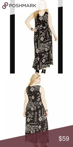Lucky Brand Plus Size Belted Geo-Print Maxi Dress Lucky Brand Plus Size Belted Geo-Print Maxi Dress Lucky Brand Dresses Maxi