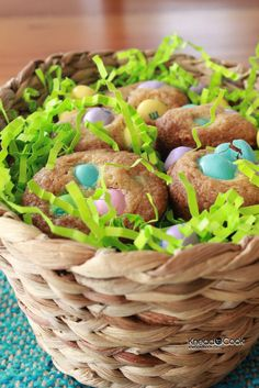 Easter M Mini Cookie Muffins.
