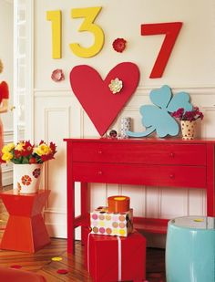 A bright, colorful way to decorate for a Birthday!