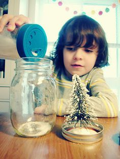 diy snowglobe craft! also make mini bottle snowglobe charms with mini bottles: http://www.ecrafty.com/c-517-mini-glass-bottles.aspx #ecrafty