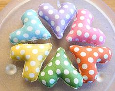 Easter Polka Dots  Ornaments Spring Hearts Bowl Fillers Decorations