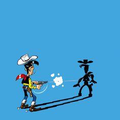 Lucky Luke - RedKit Lucky Luke, Cartoon Tattoos, Face Expressions, Poster Ideas, Poses, Caricature, Persona, Illustration, Pop Art