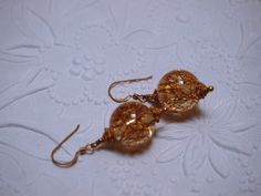 Fun Glama' Glitta' Vintage Lucite Tinsel earrings by TheJewelster, $12.99