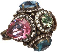 Lanvin Tutti Frutti Cocktail Ring in Multicolor (bronze) - Lyst