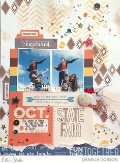 ~ State Fair ~ scrapbook layout by Daniela Dobson using the October 2015 kit and Thankful collection from Elle's Studio