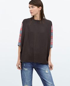 Image 2 of COMBINED PRINTED T-SHIRT from Zara