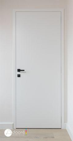 Interior Door Styles, Door Design Interior, Interior Door Trim, Modern Baseboards, Porte Design, Door Casing, Architrave, Art Deco Home, White Doors